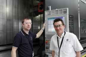 Andrew Wright of Newburgh Engineering with Stuart Dawson of the Nuclear AMRC