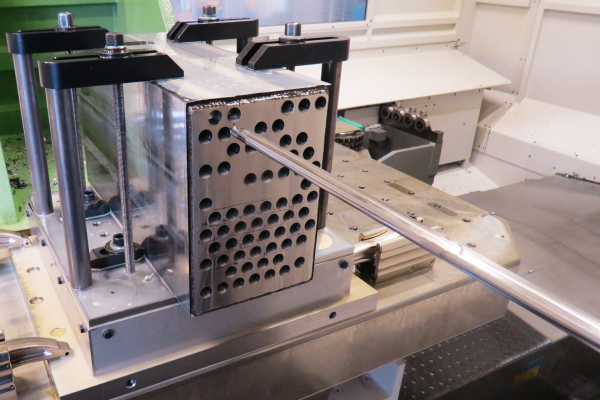Single-platform breakthrough for tubesheet machining
